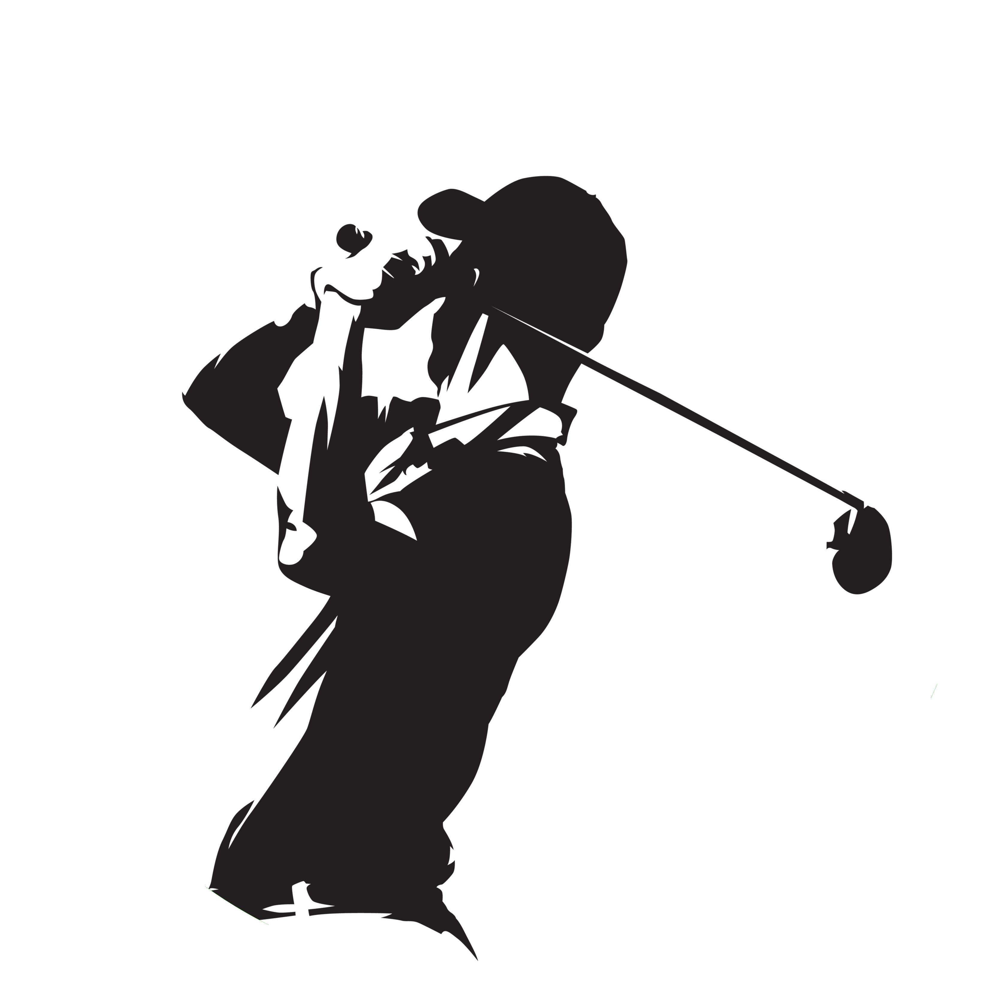 書斎のゴルフ写真切り抜き丸2